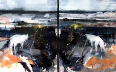 """Saatchi Art Artist Sarah Shaw; Painting, """"'The watcher and the watched'"""" #art"""