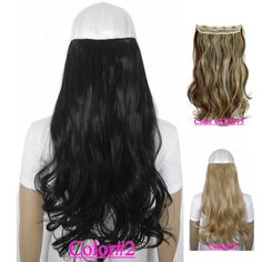 "24"" (60cm) 120g body wave 5 clips on hair piece clip in hair extensions 50 colors available"