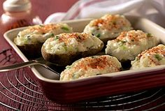 Pepper Jack Twice-Baked Potatoes-This is a Weight Watchers 5 PointsPlus+ recipe, 2 potato halves per serving.