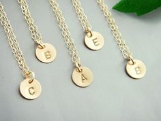 monogram initial necklace alphabet name gold silver plated necklace stamped sweater necklace bridesmaids bridal friendship love couples gift