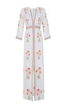 Francois Floral Crepe Dress by VILSHENKO Now Available on Moda Operandi