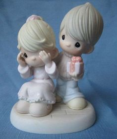 "NEW Precious Moments ""Guess Who Loves You"" Porcelain Figurine"