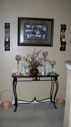 My Foyer with Easter decor