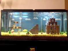 Fase de Super Mario Bros. é recriada dentro de um aquário