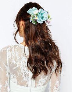 ASOS WEDDING - Mittelgroße Haar-Ansteckblume - Mehrfarbig