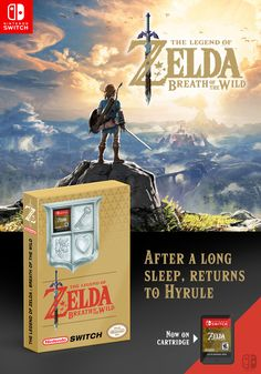 Zelda : Breath of the Wild, edition NES anniversary, classic edition, Nintendo Switch