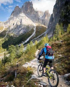 """Christoph Oberschneider on Instagram  """"Today was definitely a good day.  Maybe even a great one.  mountainbiking in the  Dolomites. 628a62529eb8a"""