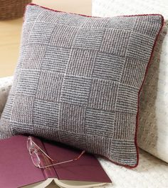 Weave this log cabin pillow on your rigid heddle and practice weaving to square! eBook includes this plus 11 more projects for rigid heddle.