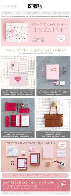 Kikki.K newsletter, pink email design www.datemailman.com