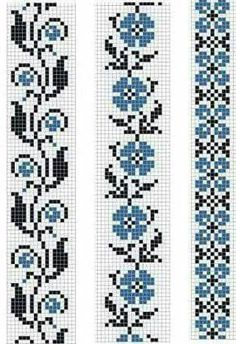 Easiest Crochet Frills Border Ever! Cross Stitch Bookmarks, Cross Stitch Borders, Cross Stitch Flowers, Cross Stitch Designs, Cross Stitching, Cross Stitch Embroidery, Embroidery Patterns, Hand Embroidery, Cross Stitch Patterns