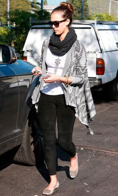 Jessica Alba Showed Off A Fab Laid-Back Style In LA, 2012