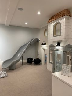 Dream Home Design, My Dream Home, Indoor Playroom, Basement Makeover, Up House, Basement Remodeling, Play Houses, Home Projects, Building A House