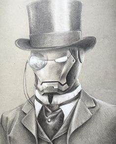 Ironman, steampunk style drawing.                                                                                                                                                     More