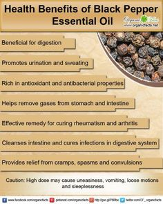 Young Living Essential Oils: Black Pepper ~ digestion, antioxidant, antibacterial, relieves gas, remedy for rheumatism & arthritis