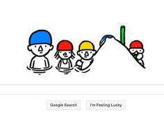 The Google Doodle celebrating the summer solstice 2013