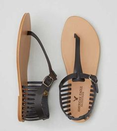 AEO Cutout T-Strap Sandal - Buy One Get One 50% Off + Free Shipping