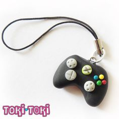 Xbox Controller Charm, Polymer Clay Charm, Cellphone Accessories, Gamer Gift, Geek Gift, Xbox Keychain, Zipper Pull Charm, Videogame Charms