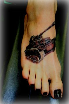 My German Tank...courtesy of Jake Hull...which will be part of a full leg sleeve my husband and I are working on:)