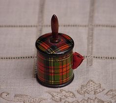 Tartanware Tape Measure - needleworkantiques.com