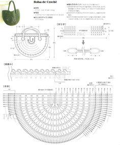 Free Half Moon Crochet Purse Pattern/Diagram...translate.