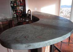 Concrete Bar Top. By James McGregor with McGregor Designs