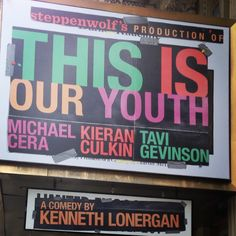 This is Our Youth starring Michael Cera, Kiran Culkin, and Tavi Geninson at The Cort Theatre on Broadway (Sep 11, 2014 - Jan 4, 2015)