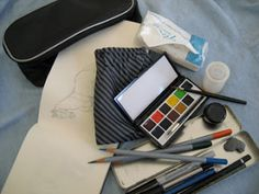 Handy Watercolor Travel Kit on Froshay's blog.