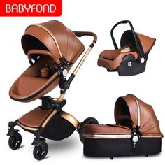 Free Shipping Free TAX Baby Stroller High Landscape Stroller 3 in 1 Baby Carriage With Car Seat Pram #babystrollers #strollers #babyprams #babytravellingsystem #babygear #newbornnesseries #babyregistery #pushchairs #babycarrier #babycarseat #newborncarseat #strollertravellingsystem Travel Systems For Baby, Briefcase Women, Travel Stroller, Baby Prams, Tote Storage, Traveling With Baby, Hobo Bag, Pu Leather, Baby Car Seats