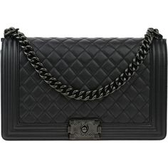 Pre-owned Chanel So Black Quilted Caviar New Medium Boy Flap Bag ( 6,250) c5cb8bfe24