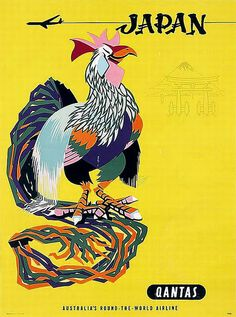 Qantas Travel poster for Japan