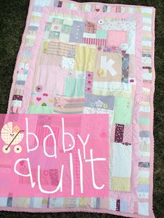 I have been dying to make a quilt with my baby clothes. This makes me want to tackle it. A girl and a glue gun
