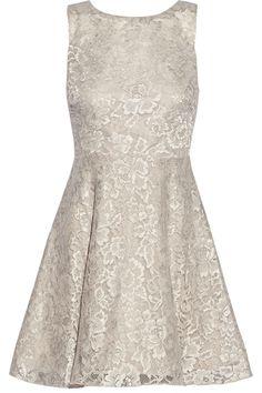 Alice + Olivia|Natalia open-back lace mini dress|NET-A-PORTER.COM