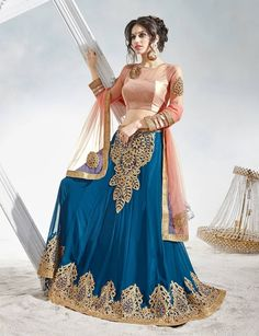 Fascinating Blue Colored Embroidered Faux Georgette Wedding Lehenga Choli Get on: https://www.triveniethnics.com/fascinating-blue-colored-embroidered-faux-georgette-wedding-lehenga-choli-82014.html