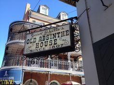 Old Absinthe House old speakeasy in New Orleans. #neworleans