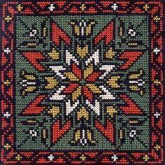 the rose of skatafeld Iceland Cross Stitch Pillow, Cross Stitch Charts, Cross Stitch Designs, Cross Stitch Patterns, Hand Embroidery Stitches, Cross Stitch Embroidery, Cross Stitching, Loom Patterns, Square Patterns