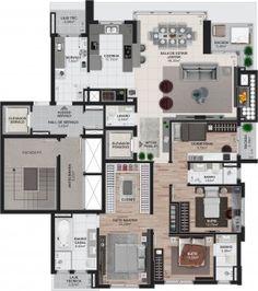 Apartamentos Final 1 Opção 4º Dormitório 179,94m²