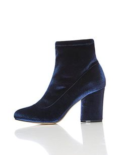FIND Damen Stiefel mit Blockabsatz, Blau (NAVY), 36 EU Ankle Boots, All About Shoes, Peep Toe, Shoe Bag, Amazon, Sandals, Heels, Sneakers, Navy