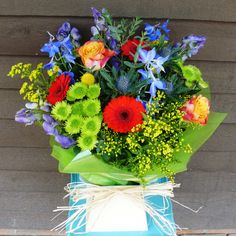 """""""Bright jewels"""" bouquet from www.thepetalboutique.co.uk"""
