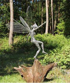 Fantasy Wire Fairies Sculptures