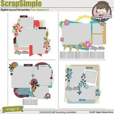 Four Seasons 2 digital scrapbook templates by Dagi's Temp-tations