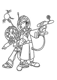 gadget boy coloring pages   Inspector Gadget Think Of Something   Inspector Gadget ...