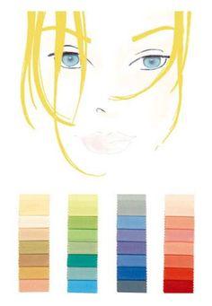 Farbtyp hell-warm-kalt: optimale Farben