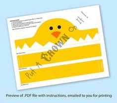 Chick Paper Crown Printable