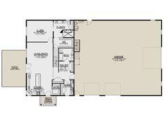 Barn Plan: 3,192 Square Feet, 3 Bedrooms, 3 Bathrooms - 5032-00105 Shop Buildings, Metal Buildings, Floor Plan Drawing, Barn House Plans, Starter Home, Pole Barn Homes, Shed Storage, Build Your Dream Home, Barndominium