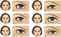 Never be too busy to be beautiful: Схема макияжа глаз для разных форм