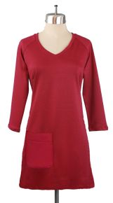 Little Day Dresses Raglan V Dress in Perfect Red