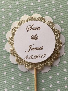 A personal favorite from my Etsy shop https://www.etsy.com/listing/537603447/12-wedding-cupcake-toppers-bridal-shower