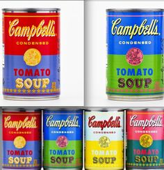 Campbell's has partnered with the Andy Warhol Foundation to produce a limited edition range of tomato soup cans inspired by the artist's work. The cans are available in British markets starting today. | The Latest In Cool Package Design