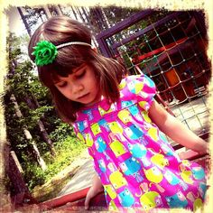 Simple Multicolor Shabby flower headband for babies girls
