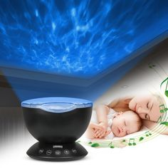 Ocean Wave Night Light Baby Projection Usb Timer Bedroom Nursery Projector With Mini